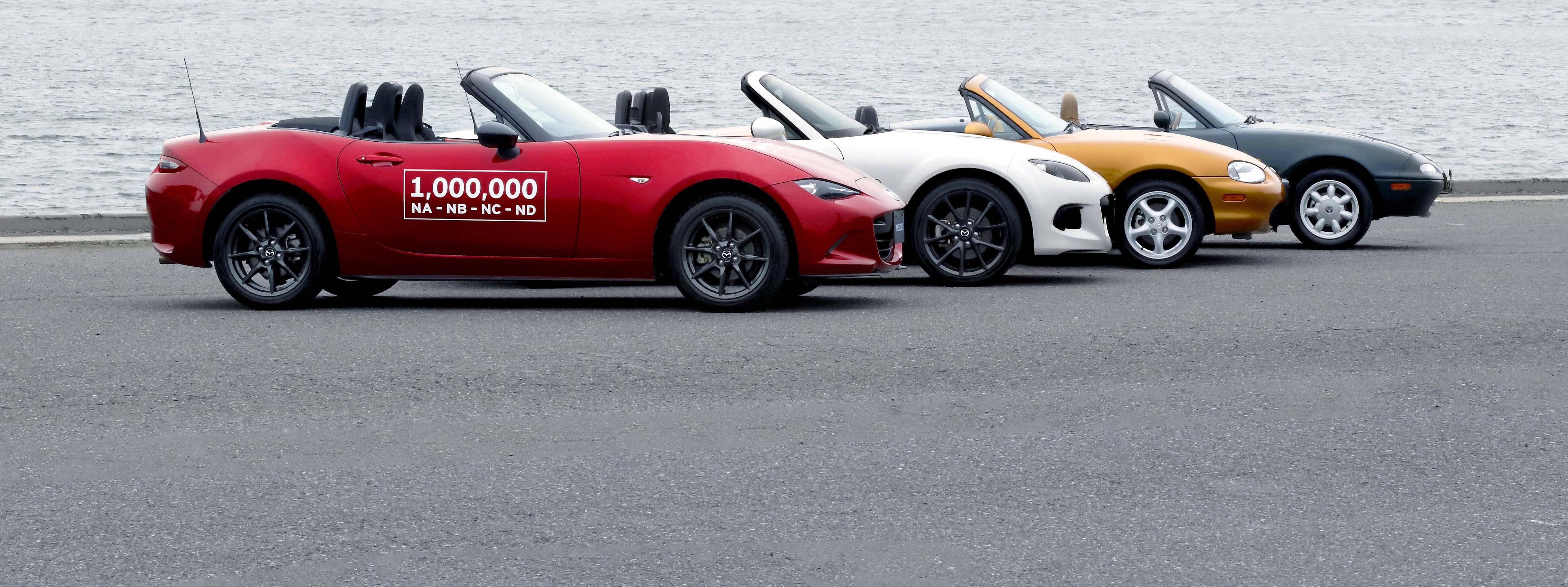 La producción del Mazda MX 5 llegó al millon.