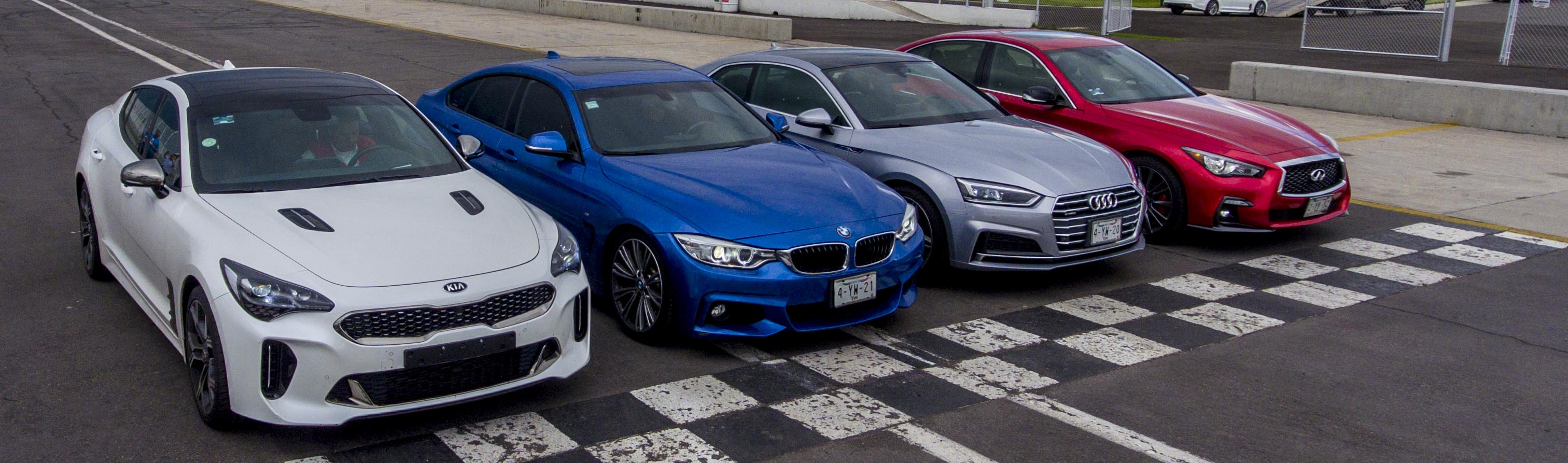 Kia Stinger GT Frente a frente con sus oponentes.